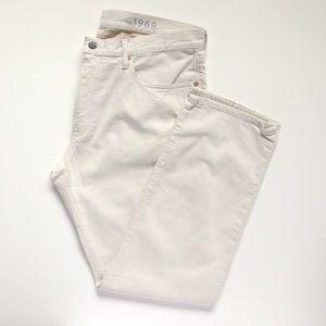 Gap Straight Fit Jeans 36x30 Natural Denim